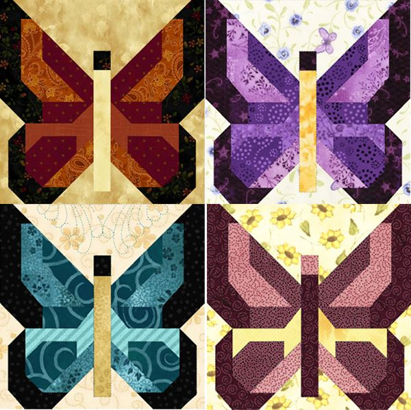 Butterflies Are Free: Patchwork Animal, Quilts Patterns, Quiltblock, Quilts Inspiration, Patchwork Quilts, Quilts Blocks, Quilts Butterflies, Butterflies Quilts, Quilts Ideas