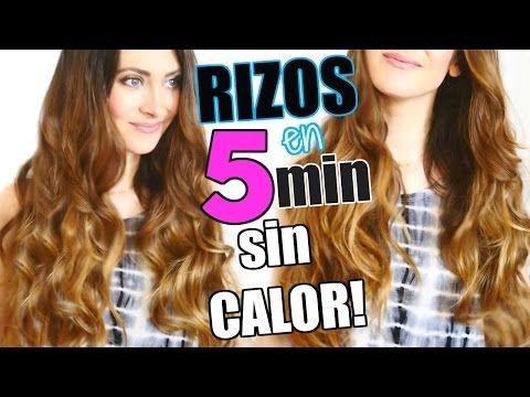 COMO RIZAR TU CABELLO SIN CALOR EN 5 MINUTOS | 5 Minutes Heatless Curls | Lizy P - YouTube