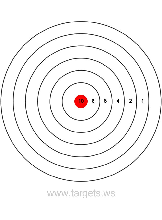 Printable Shooting Targets Colors Are Black White And