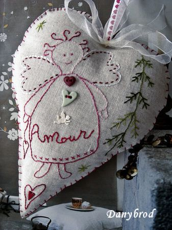 ♡ Your Heart is Mine, Valentine ♡   primitive angel heart