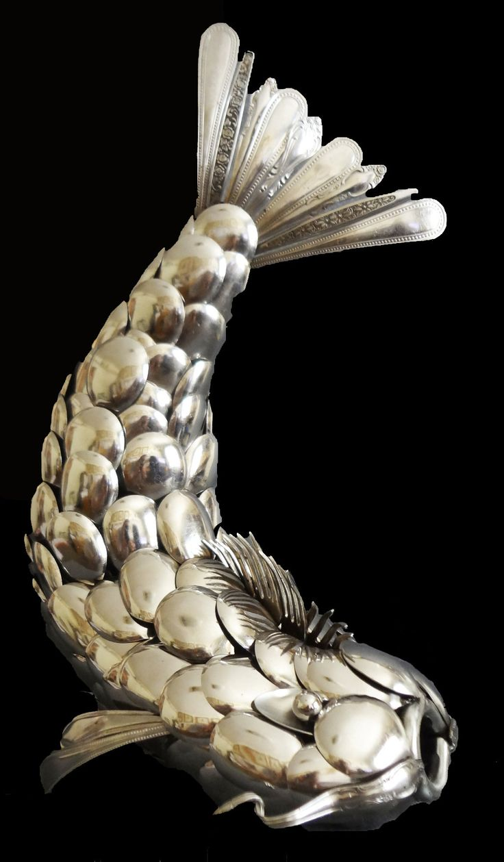 Tableware Koi by Joe Thompson (Metal Sculpture) | Artful Home