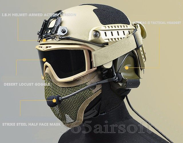 Metal Half Face Mask (Sand) i want this