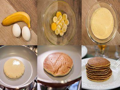 Estas panquecas são feitas somente com 2 ingredientes e não contêm farinha nem leite. Esta receita émuito fácil e rápida. Ingredientes: 1 banana madura 2 ovos biológicos   Corte a banana às rodelas e migue-a muito bem. Numa taça misture a banana e os ovos. Ponha uma frigideira, ao lume, com um pouco de... Read more »