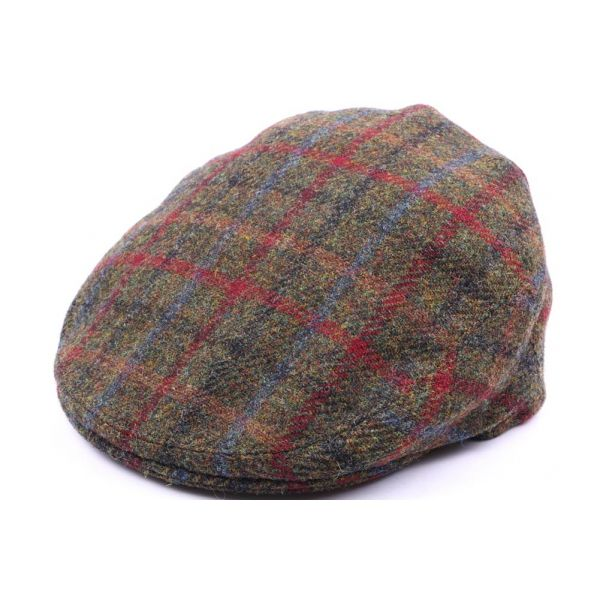 Casquette Plate Hereford Tweed Vert, bleu taille 58 #chapeau #fashionweek #mode #chic #homme