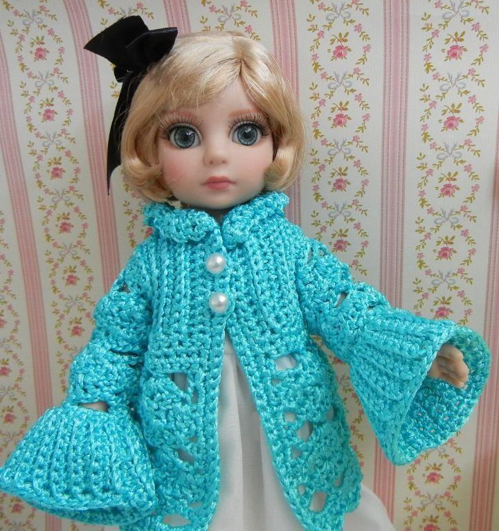 Knitting Doll How To Use : Spring coat of shiny ribbon yarn dolls coats toys and