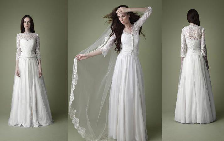 Vintage Wedding Dresses   1950sw vintage wedding dress kate middleton inspired   OneWed.com doesn't have to be matchy matchy