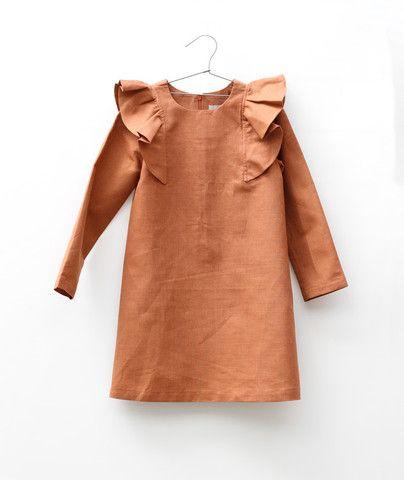 Motoreta // Linen Dress with Frill