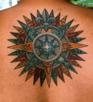Amazing compass tattoo. by jennie