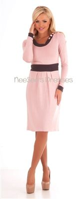 Light Pink Sweater Dress | Affordable Modest Dresses | Trendy Modest Clothing
