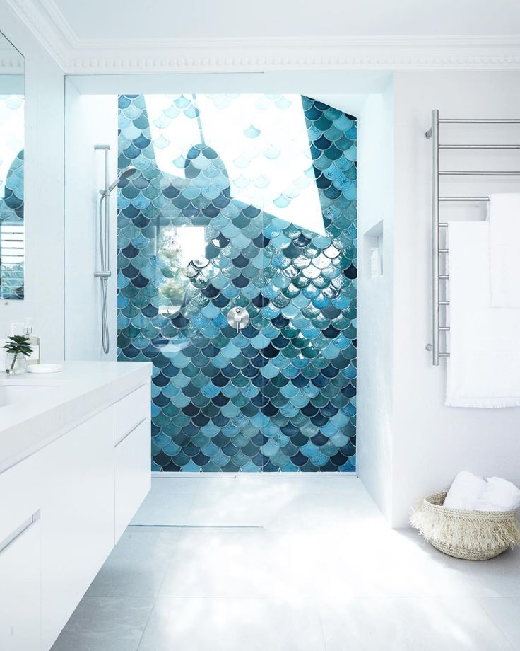 Amber Tiles Kellyville: Three Birds Renovations - Fish scale feature wall