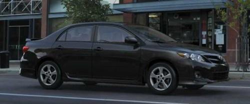Black 2012 Toyota Corolla S.