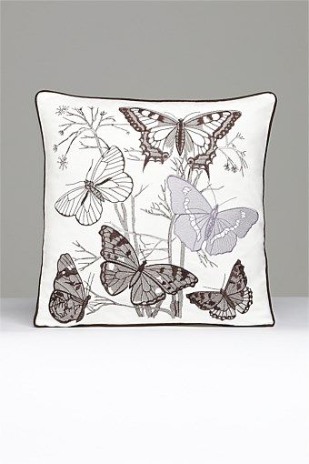 Home Decor - Butterfly Noir cushion