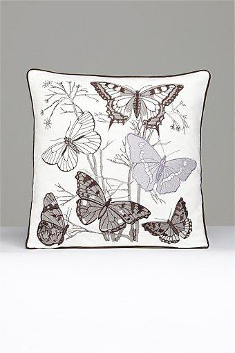 Home Decor - Butterfly Noir cushion