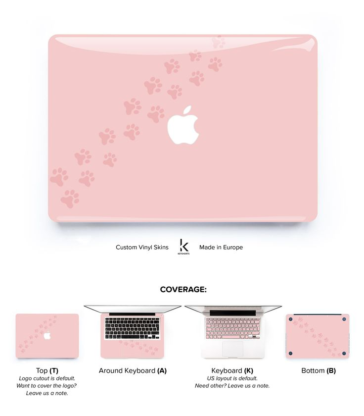 Cat Paw Millennial Pink MacBook Skin. Made to order, just choose your size :)