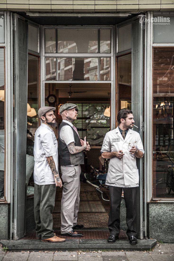 Old barber shop window - Schorem Barber Shop For Playboy Germany Magazine On Behance