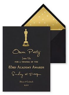 LOVE this font and glam for the Oscar Party Invite. invintations are so important! gives the guest already a good idea of what the party is going to look like