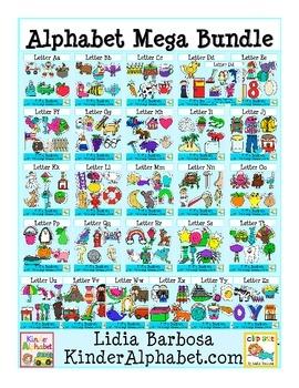 Alphabet Mega Bundle - Phonics Clip Art for Teachers
