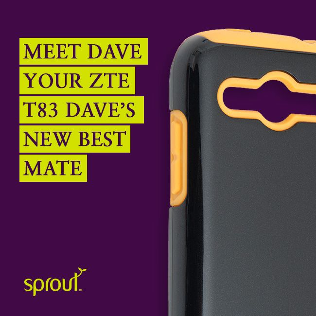 "Telstra have released a new smartphone and can you guess what they called it? ""Dave""! This rugged device is targeted as being your new best mate. What do we want in our bestest, best buddies – strength and reliability of course!  #sprout #sproutaus #dave #ZTET83 #telstra #phonecase #phonecover #tuffcase #smartphone #phonecover"
