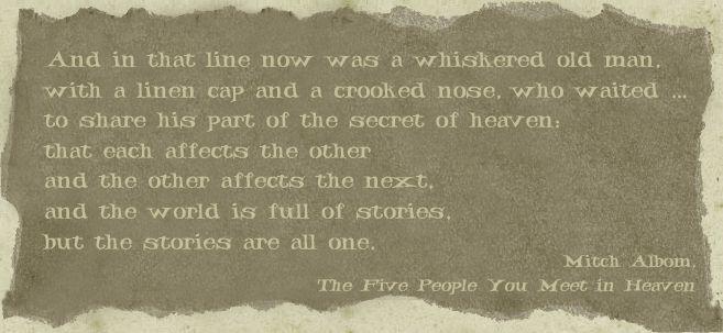 5 people you meet in heaven full story