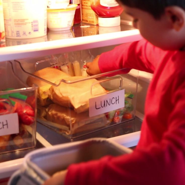 Tired Of Packing Lunches Every Morning? Organize Your Fridge So Your Family Can Pack Their Own!