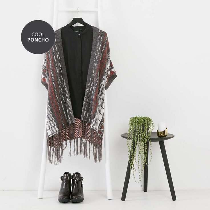 Cool poncho for chilly days! ❤