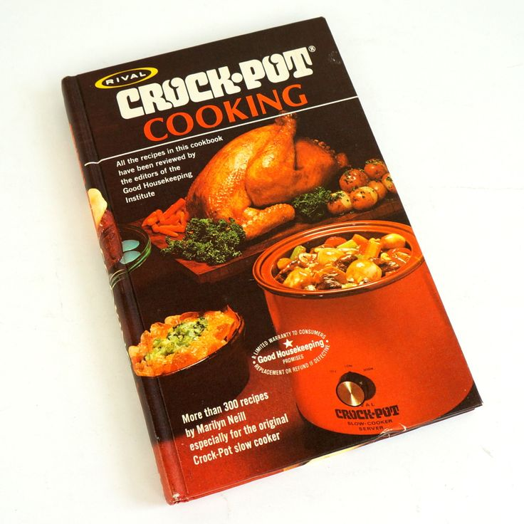 Rival Crock Pot Cooking by Marilyn Neill 1975 Hc VGC / Over 300 Recipes for the Crock-Pot Slow Cooker by AttysVintage on Etsy