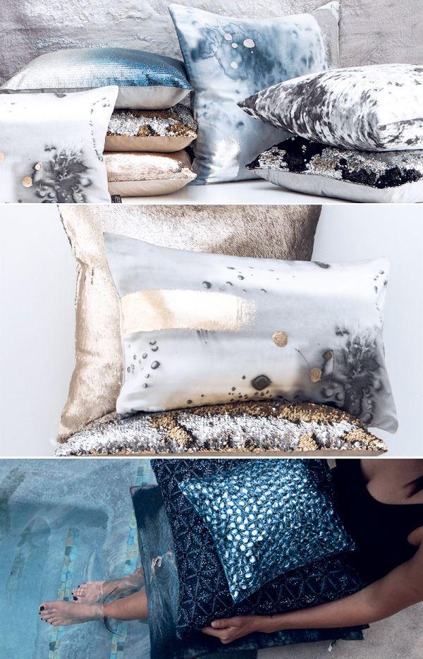 Un arredamento lussuoso si può realizzare anche attraverso piccoli dettagli che spiccano per un'insita bellezza, come i tessuti d'arredo di Aviva Stanoff… semplicemente meravigliosi!