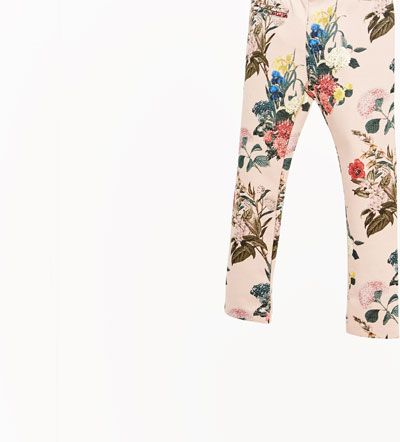 Image 4 of PRINTED PIQUÉ TROUSERS from Zara