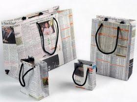 Pasos para hacer bolsas de papel con periodico diario revistas - cómo reciclar papel de diario periodico - que puedo hacer con papel de diario periodicos - manualidades para niños