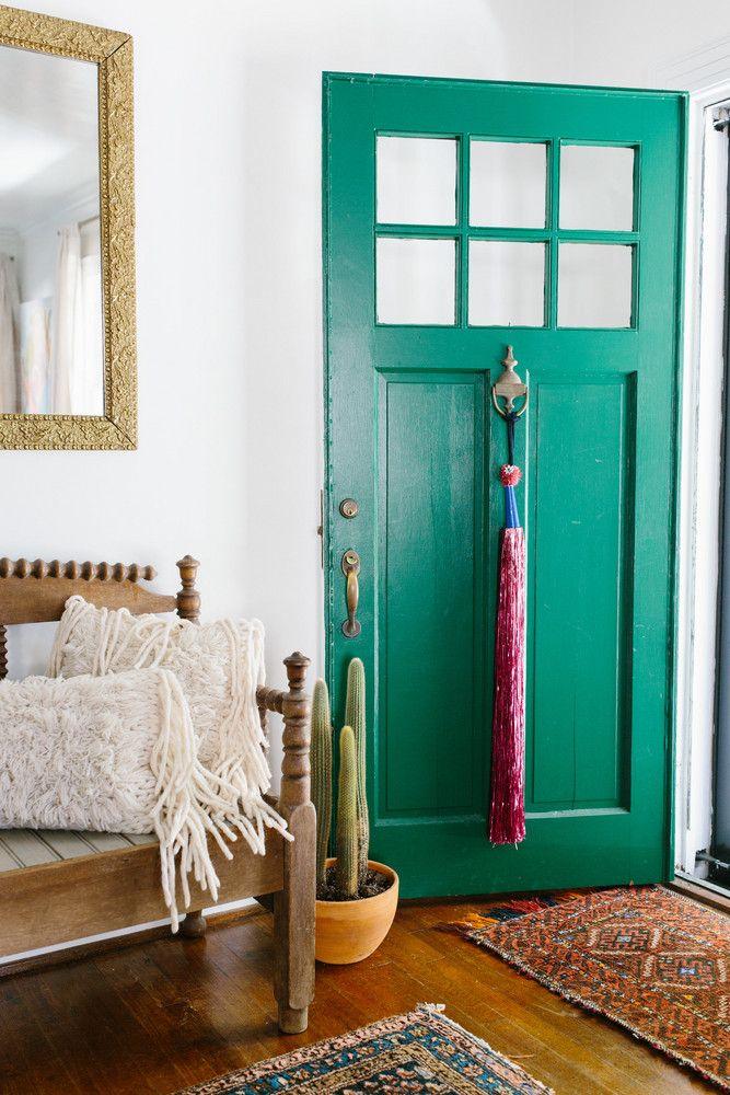 green door + boho rugs