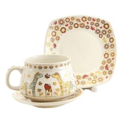 Children's Tale Cup & Saucer Set,  $12.00.  Order here: http://catalog.obitel-minsk.com/handmade-ceramics/ceramic-tableware.html?ceramics_type=553 #christmastime #xmas #giftideas #gift #souvenir #present #ceramic #clay #handmade #teaset #home #tea #warmly #cup #saucer #pottery