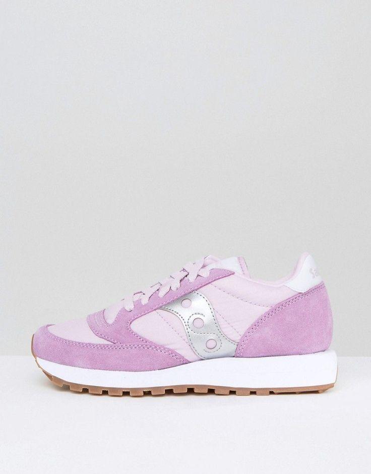 Saucony Exclusive Jazz Original Sneakers In Lilac & Silver - Purple