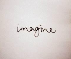 John Lennon <3  This is def. how I want my imagine tattoo :)