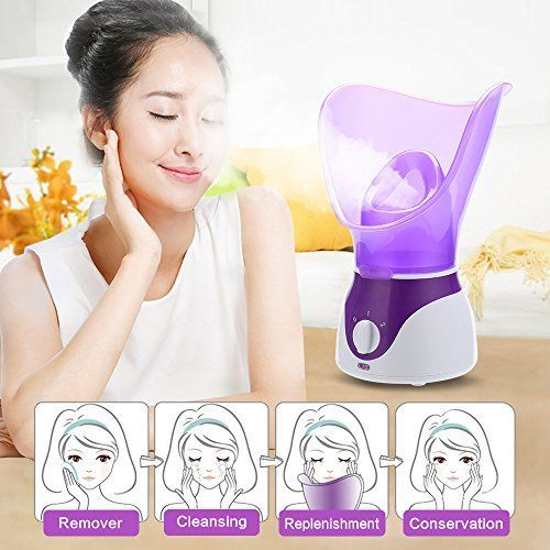Bromose Face Steamer Warm Mist Moisturizing Facial Steamer Hot Mist Humidifier Hot Mist Clear Home SPA Skin Care for Pores Acne Blackheads Interior Nano Sprayer Face Humidifier. For product & price info go to:  https://beautyworld.today/products/bromose-face-steamer-warm-mist-moisturizing-facial-steamer-hot-mist-humidifier-hot-mist-clear-home-spa-skin-care-for-pores-acne-blackheads-interior-nano-sprayer-face-humidifier/