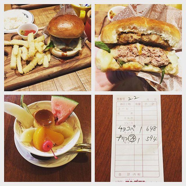 ぶらぶら広島ランチ🍔✨ #NICK STOCK #熟成肉Wバーガー #肉 #シャモニーモンブラン #純喫茶 #プリンファンタジー #大親友ランチ