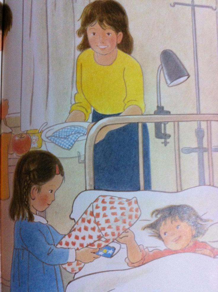 My sister was hospitalized  いもうとのにゅういん