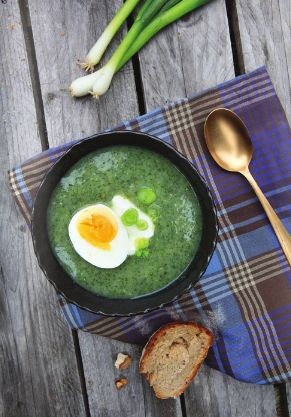 nettle soup with cucumbers #summer cooking