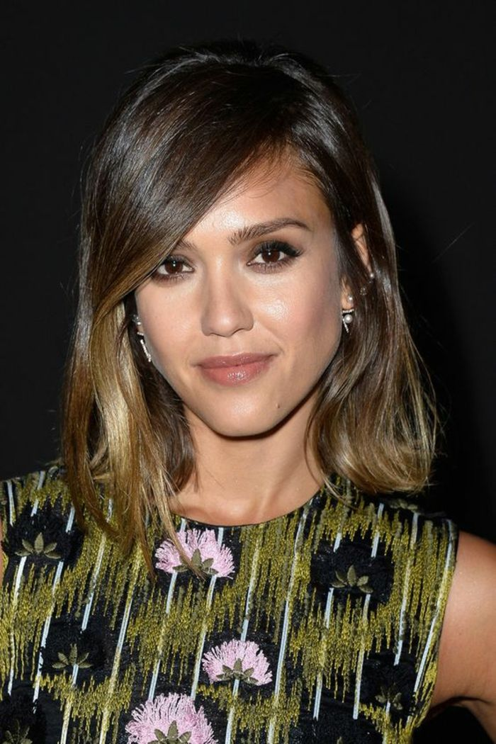 balayage miel jessica alba. Black Bedroom Furniture Sets. Home Design Ideas