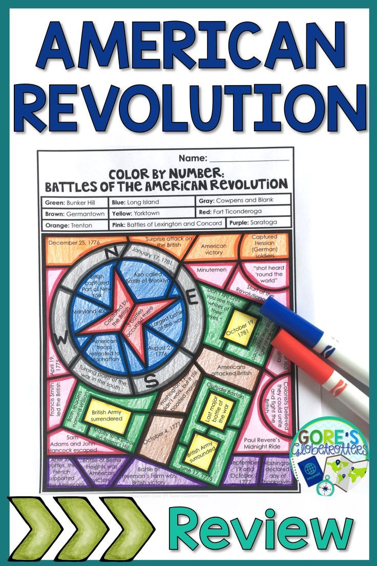 Battles Of The American Revolution Activity With Images