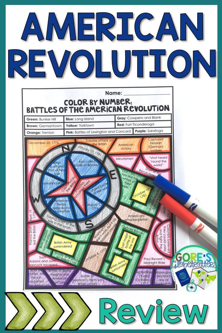 Battles of the American Revolution Activity   American revolution  activities [ 1104 x 736 Pixel ]