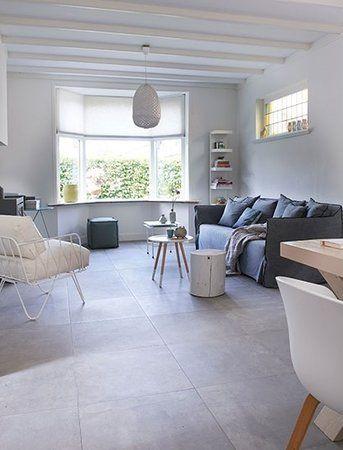 25 beste idee n over lichtgrijze muren op pinterest grijze muren grijs interieur verf en - Concrete effect tafel ...