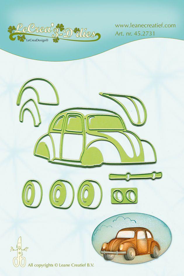 Lea'bilities Cutting & Embossing Die - VW Beetle - Car - 45.2731 - New Out #Leabilities