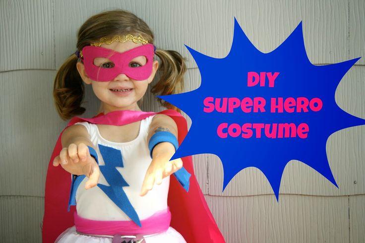 DIY Super Hero Costume For Girls #DIYhalloween #DIYcostumes