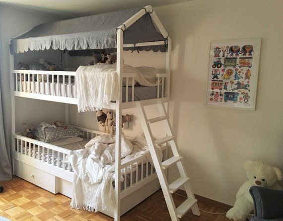 Bunk Beds Kids Beds Children Bed Toddler Bed Loft Bed Etsy In 2020 Kid Beds Kids Bunk Beds Bunk Beds With Storage