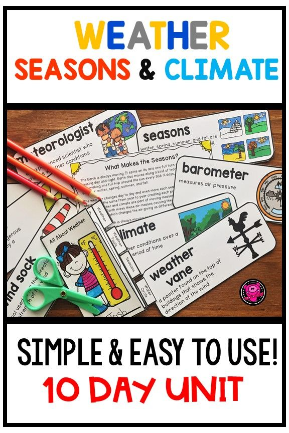 WEATHER SEASONS and CLIMATE Activities and Lessons Bundle | TPT