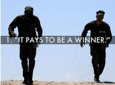 It pays to be a winner for more Navy SEAL workouts go to:  http://sealgrinderpt.com/navy-seal-workout/navy-seal-workout.html/