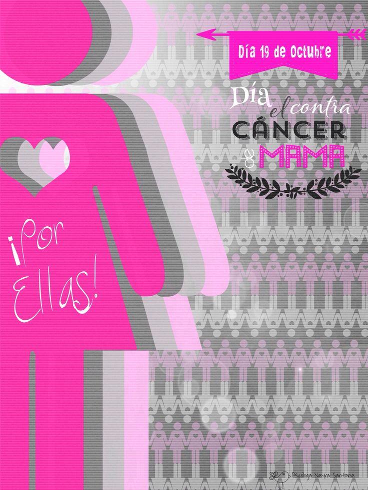 El dia 19 octubre se celebra #DiaMundialCancerMama con el objetivo de sensibilizar de una realidad que afectan a muchas mujeres. Los avances médicos permiten que los diagnósticos precoces salven muchas vidas, ¡¡NO olvides de hacerte tu revisión anual!!! #psicologia #frases