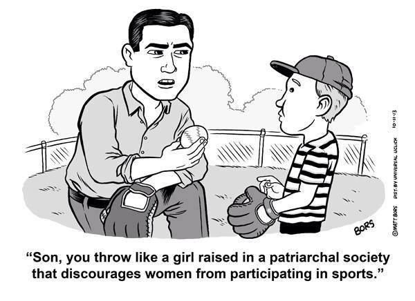 """""""throwing like a girl"""", contexualized"""