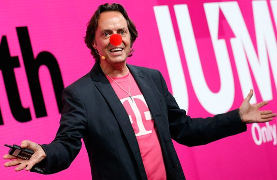 John J. Legere is an American businessman who is the Chief Executive Officer and President of T-Mobile US. He has previously served as an executive for AT&T, Dell, Global Crossing, and serves on the CTIA Board of Directors.  Effective business-style or Longhair-confidence? We think both.