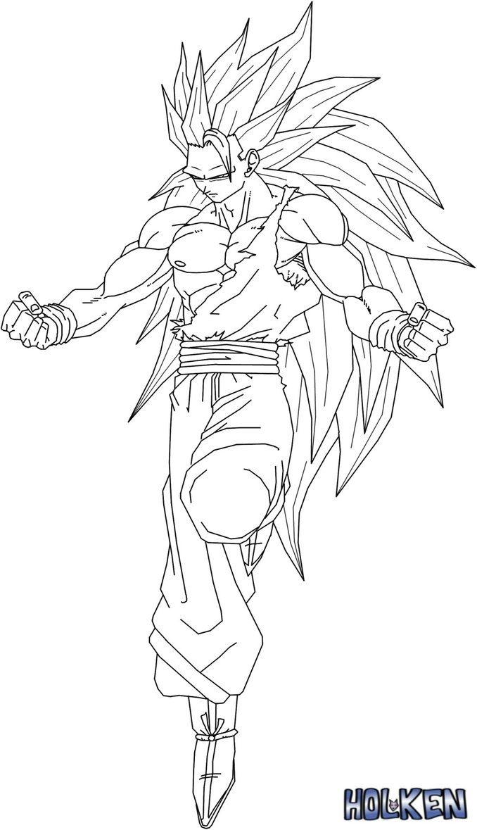 Goku Ssj3 Coloring Pages Gallery